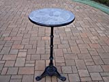 Bar Table Rust-free Aluminium Construction Hardened Powder-coated Finish in Black for Years Of Beauty Authentic Stone Formed Top Garden Patio Outdoor Furniture