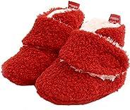 Lvptsh Unisex-Baby Fleece Booties Cozy Baby Bootie Winter Warm Boots Socks Anti-Slip Soft Sole for First Walke