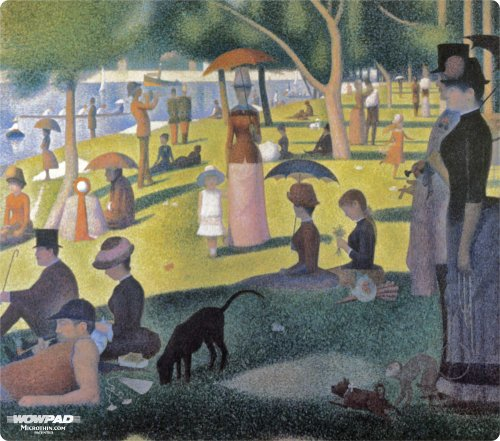 """WOW!PAD 7.5"""" x 8.5"""" Masters Series Mouse Pad--Sunday Afternoon by Seurat ( 78MS81-003 )"""