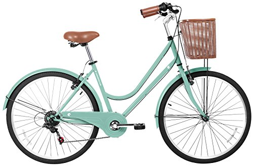 Why Choose Gama Bikes Women's City Basic Step-Thru 6 Speed Shimano Hybrid Urban Cruiser Commuter Roa...