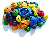Atomik Climbing Holds 100 Pack Rock-Like Bolt On - Includes Jugs, Pinches and Crimps - Assorted Bright Tones