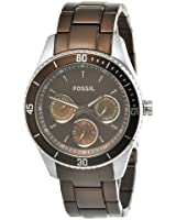 Fossil Women's ES3033 Stella Brown Aluminum and Stainless Steel Watch