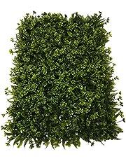 SZ Plancha Alfombra de Césped Artificial 60 * 40cm Jardín Vertical Decoración Interior Pared Hierba (Treboles)