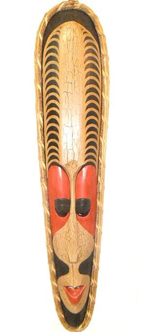amazon com 40 red handmade tiki mask african style hawaiian