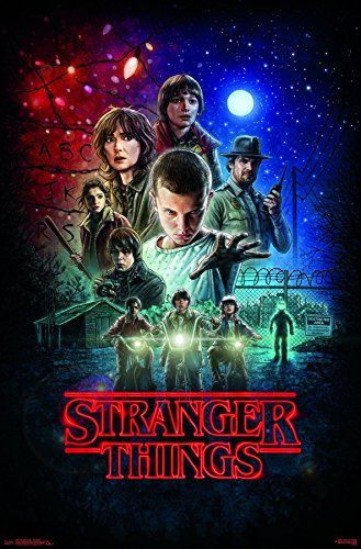 wall poster stranger things one