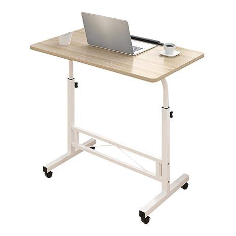 Mesas auxiliares de salón Rectangular Altura Ajustable Bandeja para Laptop Soporte extraíble para computadora Soporte portátil