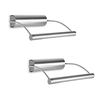 Pair of modern battery operated adjustable chrome picture led pair of modern battery operated adjustable chrome picture led wall light aloadofball Image collections