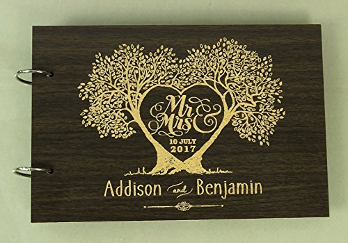 guest book wood - 5