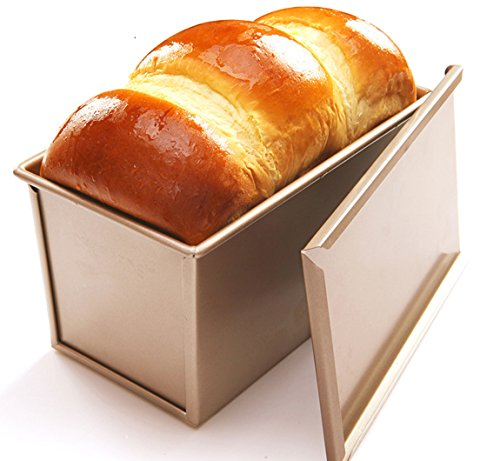 - CAN_Deal Loaf Pan With Cover/Bread Baking Mould Cake Toast/Non-Stick Toast Box with Lid For 450g Dough, Vented Hole for Rapid Baking, Made from Heavy-gauge Steel (Smooth Style)