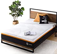 Zinus 12 Inch Cooling Copper Adaptive Pocket Spring Hybrid Mattress/Moisture Wicking Cover/Cooling and Antimic