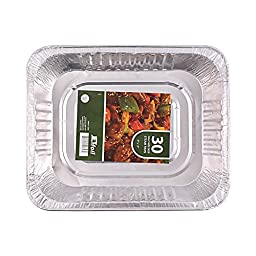 Jetfoil Aluminum Foil Steam Table Pans, Half Size Deep, 9x13 Pans (30 Pack)
