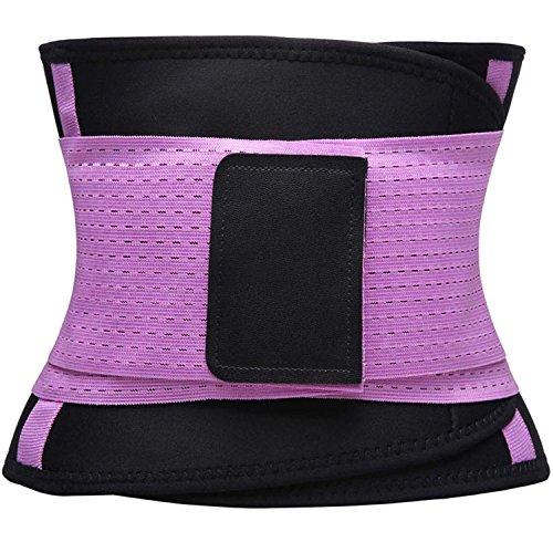 KOOCHY Women's Waist Trainer Belt - Waist Cincher Trimmer - Slimming Body Shaper Belt - Sport Girdle Belt for Weight Loss(Purple,Large) by KOOCHY (Image #3)