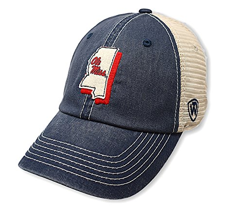 sports shoes 51ccd a92dc Top of the World Mississippi Old Miss Rebels Men s Mesh-Back Hat Icon, Navy,  Adjustable