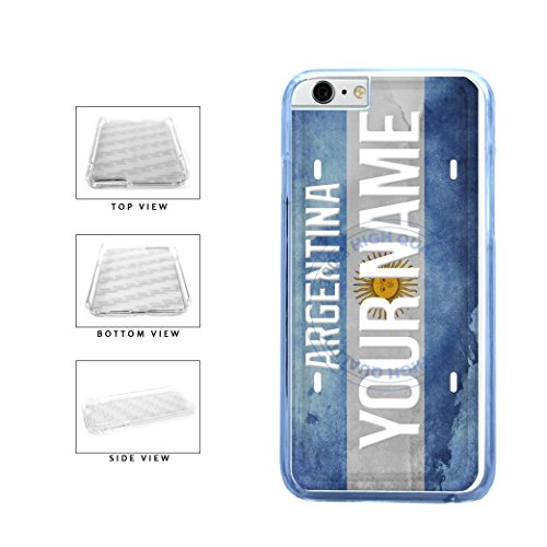 BleuReign(TM) Personalized Custom Name License Argentina Plate Clear Sides Plastic Phone Case Back Cover For Apple iPhone 6 Plus and iPhone 6s Plus (5.5 Inches Screen)