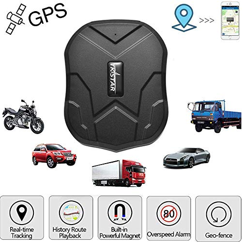 TKSTAR Hidden Vehicles GPS Tracker, Waterproof Real Time Car GPS Locator Anti Theft Alarm Tracking Device Strong Magnet For Motorcycle Trucks Support Android and IOS TK905