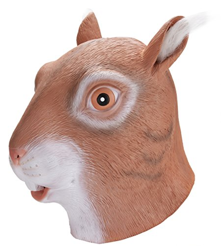 [Coxeer Deluxe Novelty Halloween Costume Party Latex Animal Squirrel Head Mask] (Animal Halloween Costumes Men)
