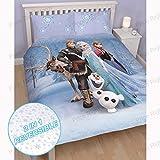 Disney Frozen Stellar UK Double/US Full Duvet Cover and Pillowcase Set
