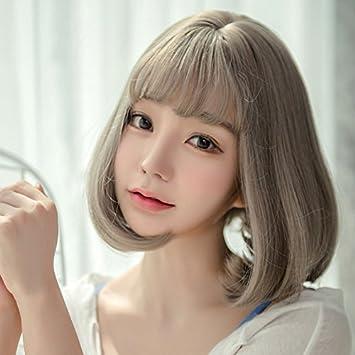 Amazon Com South Korean Costume Wig Ponytail Hat Invisible Women