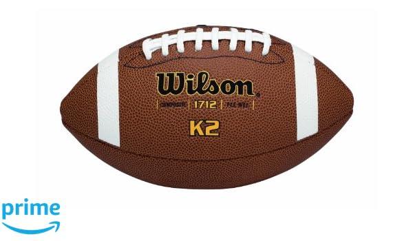 Wilson K-2 Pee Wee Composite Leather Game Football: Amazon.es ...