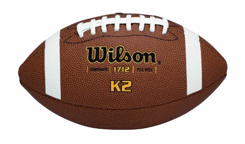 Wilson K-2 Pee Wee Composite Leather Game - Wee Leather Pee Composite Football
