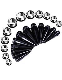 BodyJ4You Taper Kit 00G-20mm Inch Gauges Kit Stretching Set