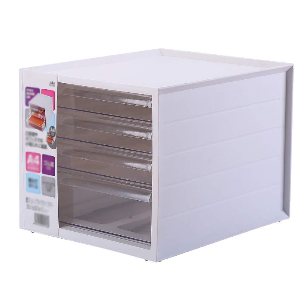 収納ボックス、透明厚いオフィスデスクトップ収納ボックス引き出し多層収納ボックスファイル収納キャビネット (色 : Nordic white) B07MGH3SNN Nordic white