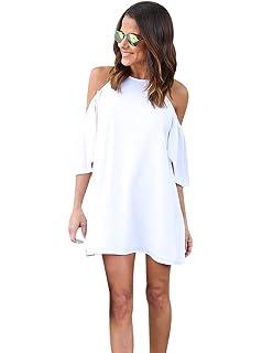 ISSHE Vestidos de Verano Cortos Mujer Vestido de Diario Corto Rectos Casuales Mini Vestidos Playeros Diarios