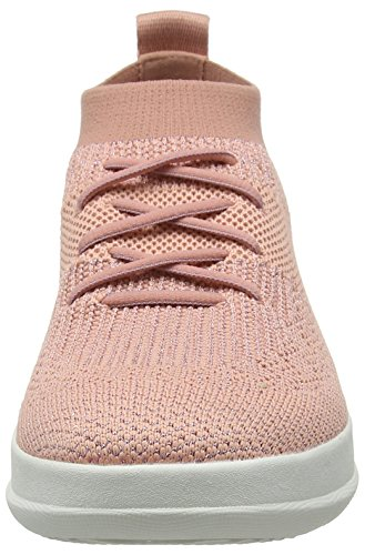 612 Toe Top Sneaker Women's Flats Slip Fitflop Pink Pink High on Uberknit Dusky Ballet Closed Metallic wZfRqax