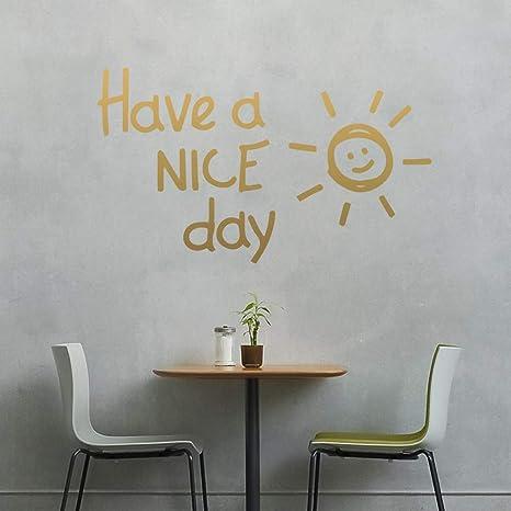 TYLPK Hermosa cita de Sunshine Have A Nice Day Frase Vinilo ...
