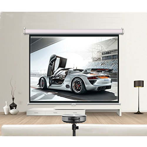 Manual Pull Down Projector Projection Screen Home Theater Mo