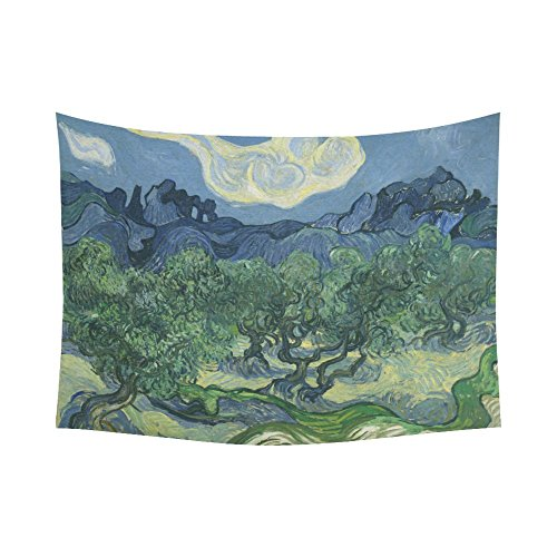 Artsadd Custom Tapestry Van Gogh The Olive Trees Cotton Linen Wall Tapestry