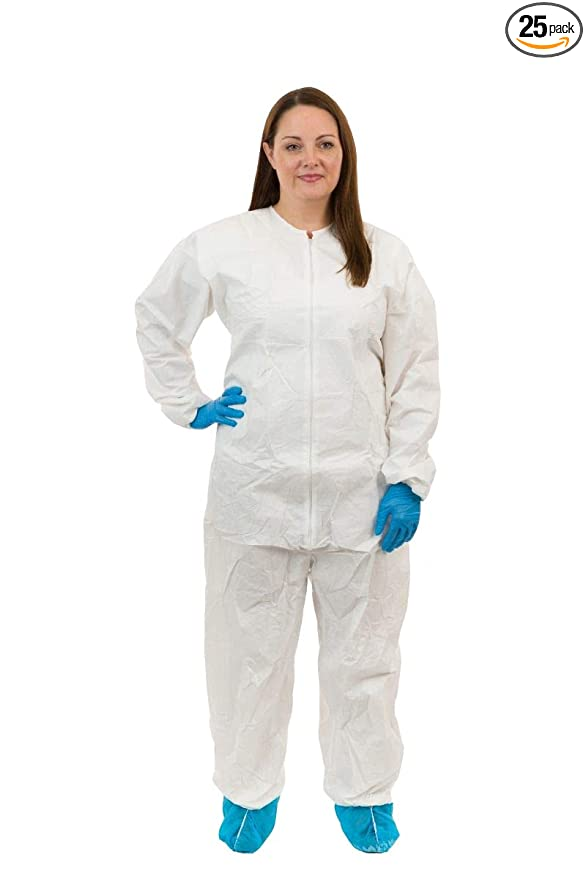 Amazon.com: GammaGuard CE Sterile Coverall (White) with Tunnelized Elastic Wrist & Ankle, Individually Packaged (3XL, Case of 25): Home Improvement