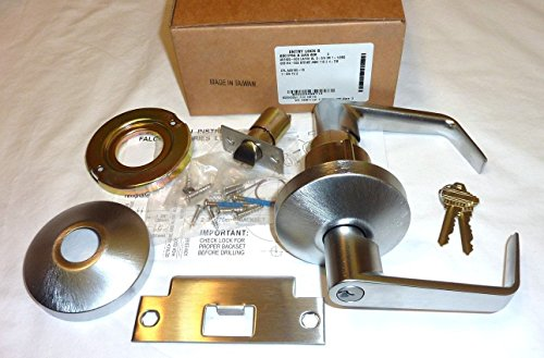 - Falcon B501P6D B DAN 626 Entry Door Lock, Dane Style Lever, C Keyway, 2-3/4