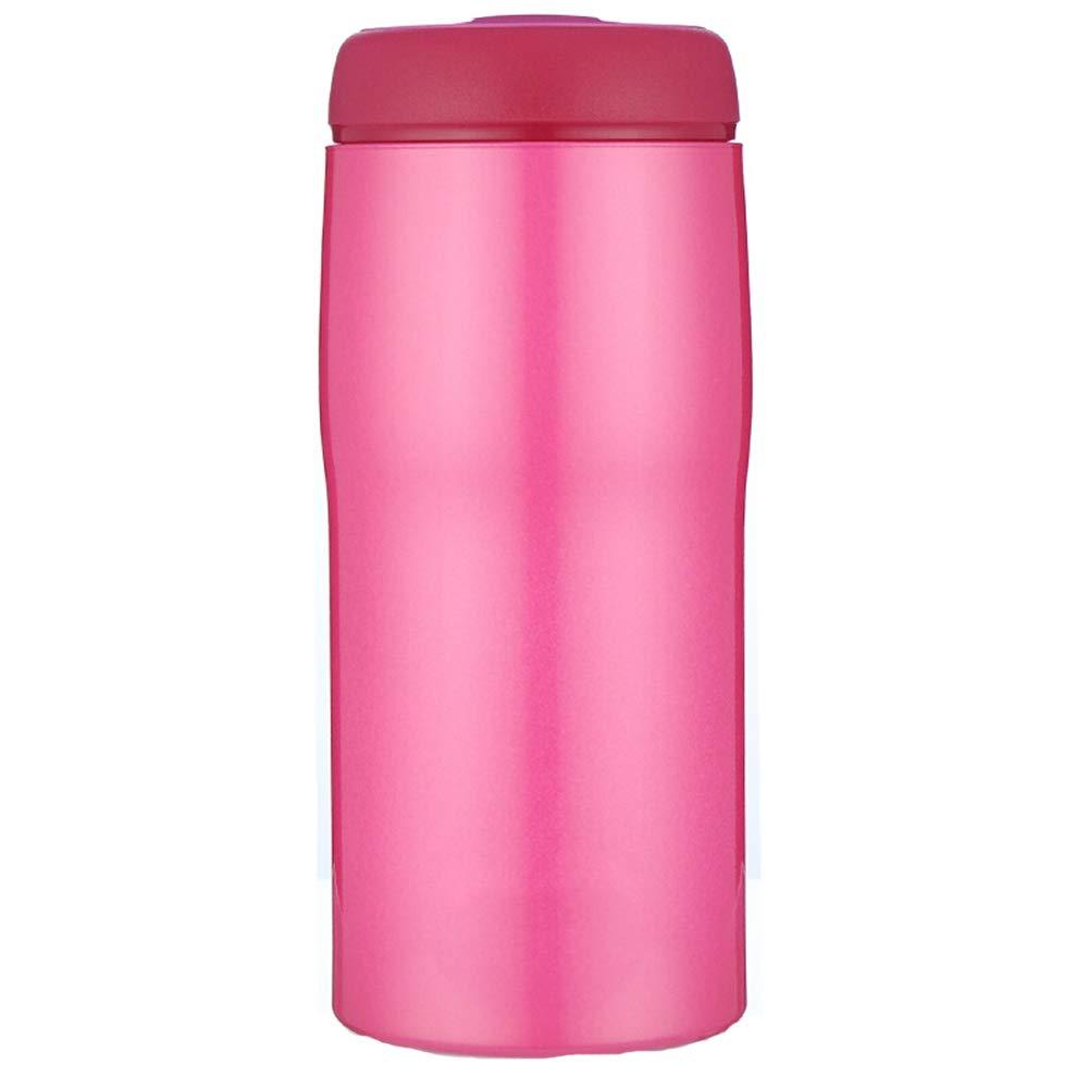 Sportflasche Isolier Becher Thermo Becher Travel Mug Kaffeebecher Wasserflasche Trinkbehälter Trinkflaschen-Vakuumkolben Aus Edelstahl JINRONG (größe : ROT)