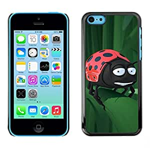 Cubierta de la caja de protección la piel dura para el Apple iPhone 5C - Cool Metal Dragon Shield