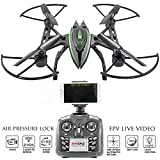 KiiToys Camera Drone with Live Video - Predator FPV VR Quadcopter - Virtual Reality First Person View Flight in Real Time - Air Pressure Sensor Attitude Lock
