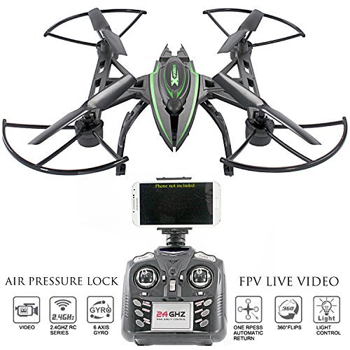 Kiitoys Camera Drone With Live Video   Predator Fpv Vr Quadcopter  Virtual Reality First Person View Flight In Real Time  Air Pressure Sensor Attitude Lock