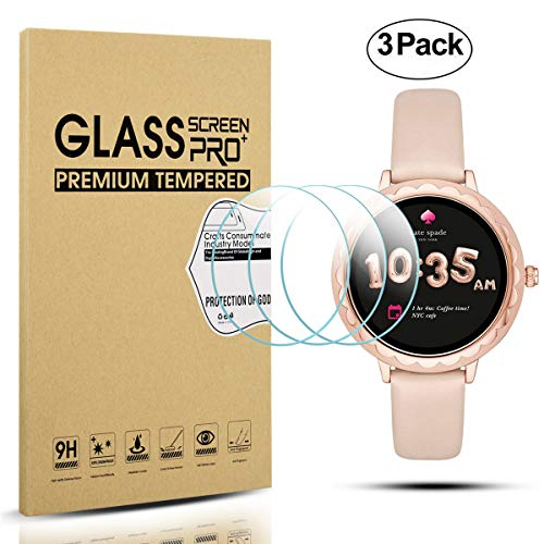 Diruite 3-Pack for Kate Spade Smartwatch Scallop Tempered Glass Screen Protector [Anti-Scratch] [Perfectly Fit] [Optimized version] - Permanent Warranty Replacement ()