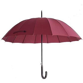 Manija de madera abierta clásica del estilo del caballero Manija doblada paraguas de manija larga Protección