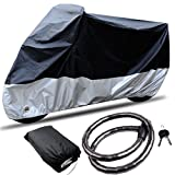 CARSUN All Season Two-colour Design Outdoor Indoor Waterproof Sun Motorcycle Cover,with Free Motorcycle Lock (SIZE 2 - 96.5