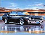 1970 AMC AMX Muscle Car Art Print Black 11x14