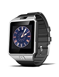 DZ09 smart watch latest card Bluetooth support Android Apple system, watch mobile phone Android smart mobile phone watch (Silver)