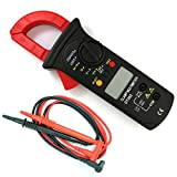 NUZAMAS Digital Clamp Meter | Auto-ranging Multimeter | AC/DC Voltage&Current, Resistance, Diode Test, Non-contact Voltage Detect, Overload Protection Results Recorder LCD Display