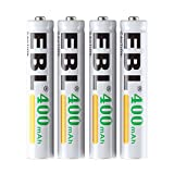 EBL 4-Pack AAAA Rechargeable Batteries, AAAA Rechargeable Battery 1.2V Ni-MH 400mAh for Surface Pen