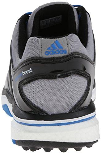 Adidas Mens Adipower S Boost Scarpa Da Golf Light Onix / Argento Scuro Metallizzato / Bahia Blu