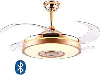 RXM Techo 72W Luces Modernas Ventilador Con Bluetooth Retráctil De ...