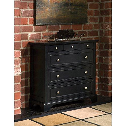 36' Black Vanity - Stylish Bedroom 4-Drawer Chest With Contemporary Style, Stylishly Raised Bottom, Flat Top Surface, Poplar Hardwood And Engineered Wood Construction, Rich Ebony Multi-Step Espresso Finish