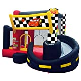 Inflatable Disney Cars Pit-Bounce n' Slide w Optional Ball Pack