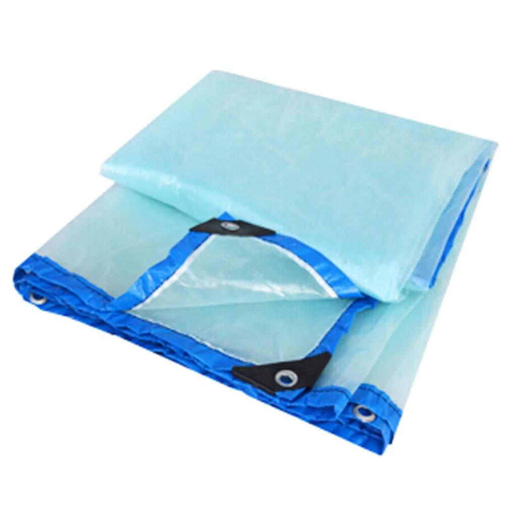 JIANFEI Teloni Impermeabile Pioggia Impermeabile Trasparente Copertura Vegetale, 22 Taglie può Essere Personalizzato (colore   Blu, Dimensioni   4x4m)