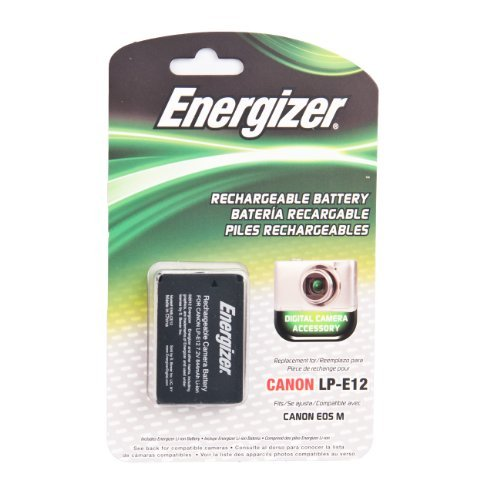 Energizer ENB-CE12 Digital Replacement Battery LP-E12 for Canon EOS M Digital Mirrorless Camera (Black) ()